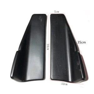 Image 4 - 2 個車のリアリップサイドスカートバンパースポイラーリアリップ角度スプリッタディフューザー抗クラッシュ修正されたスプリッタディフューザーウイングレット