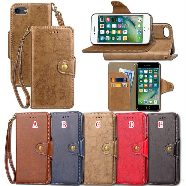 Retro Strap Wallet Leather Case For Samsung Galaxy S8 PLUS S5 S6 S7 EDGE J3 A3 A5 A7 2017 J2 J5 Prime J7 Card Stand Cover 50pcs