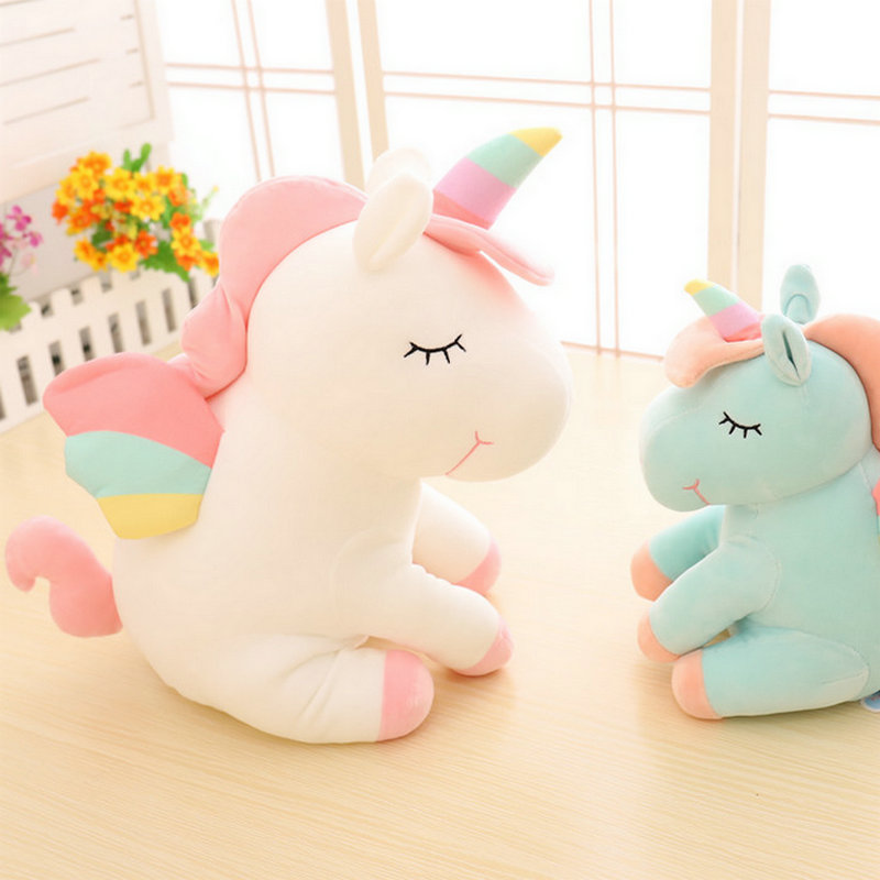 30/45cm White/blue/pink Unicorn Plush Toys Giant Stuffed Animal Soft Doll Home Decor Children Photo Props stuffed toy