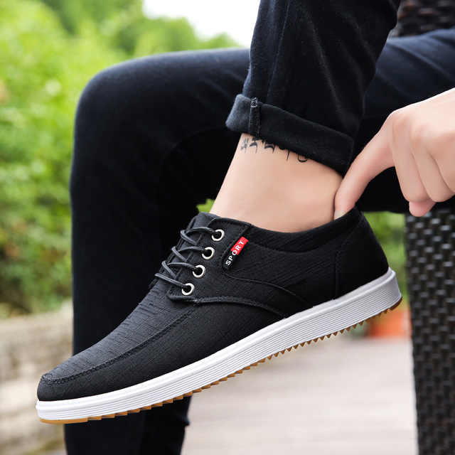 Wild-Cloth-Shoes Sneakers Man Men With Low-Top Youth Canvas Flat Vogue Sports