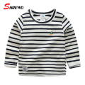 T-shirt Boys Kids 2017 Spring New Casual Simple Striped T Shirt Kids O-neck Long Sleeve Solid Children Clothing 4845W