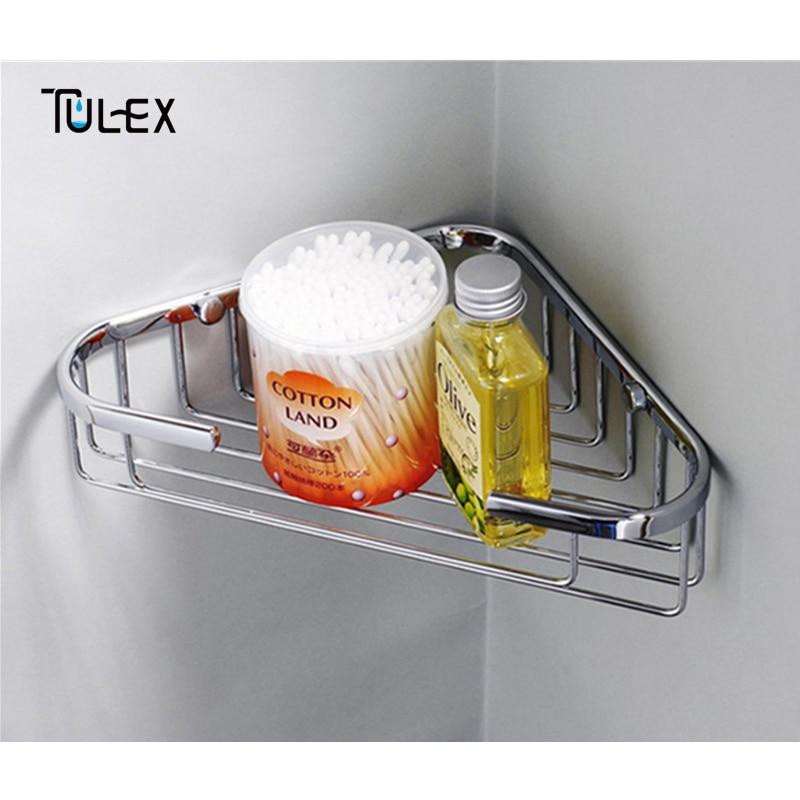 tulex estantes bao ducha cesta canasta de en rack de pared esquina espejo de acero