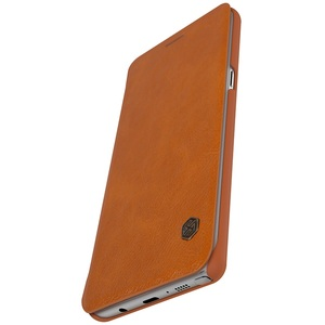 Image 4 - Samsung Galaxy Not Note FE için (Fan Baskı) durumda Nillkin Qin Vintage Deri Kart Kapak Çevirin Samsung Not FE Telefonu Çanta