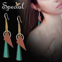Special Brand Fashion European Style Drop Earrings Natural Pine Long Earrings Jewelry Gifts For Women S1690E