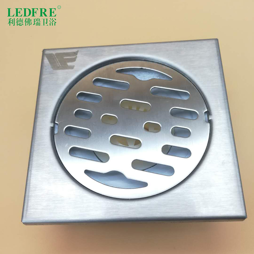 LF66001 Floor Drain  Bathroom Square Shower Drain with Removable Cover Anti-clogging for Kitchen Washroom Garage Basement 4