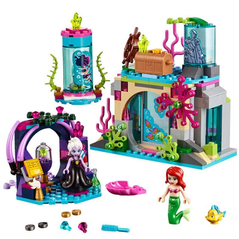 25010 Princess Series 41145 Building Blocks The Magical Spell Set Ariel Mermaid Building Bricks Girls Toys Compatible with Legoe the little mermaid ariel princess dress cosplay adult ariel mermaid costume women mermaid princess ariel green dress cosplay