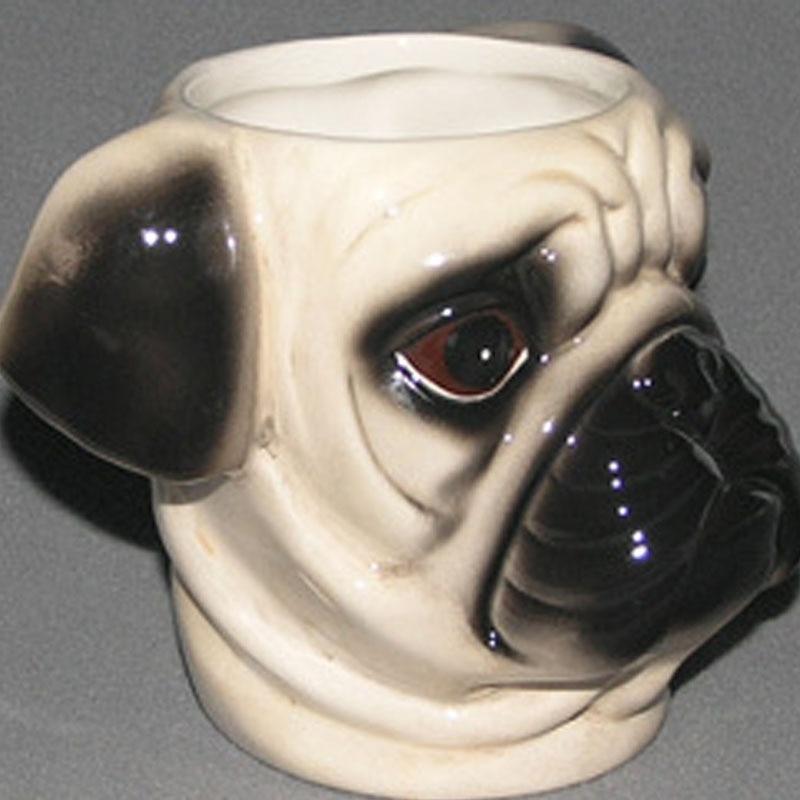 Creative 3D Dog Colour Drawing Pattern Ceramics Pet Mug A Pug Buldog Lovely Beautiful Beer Milk Coffee Festival Gift Big Cup
