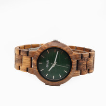 GNART10 Men's Wooden Watch Handmade Vintage Quartz Watches Natural Wooden Wrist Watch relogio masculino 2018