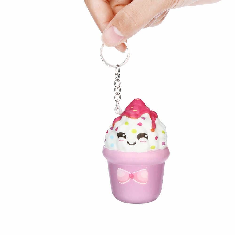 Juguetes novedosos antiestrés blandos alivio del estrés Anti-estrés broches prácticos llavero perfumado sorpresa juguetes para aliviar el estrés