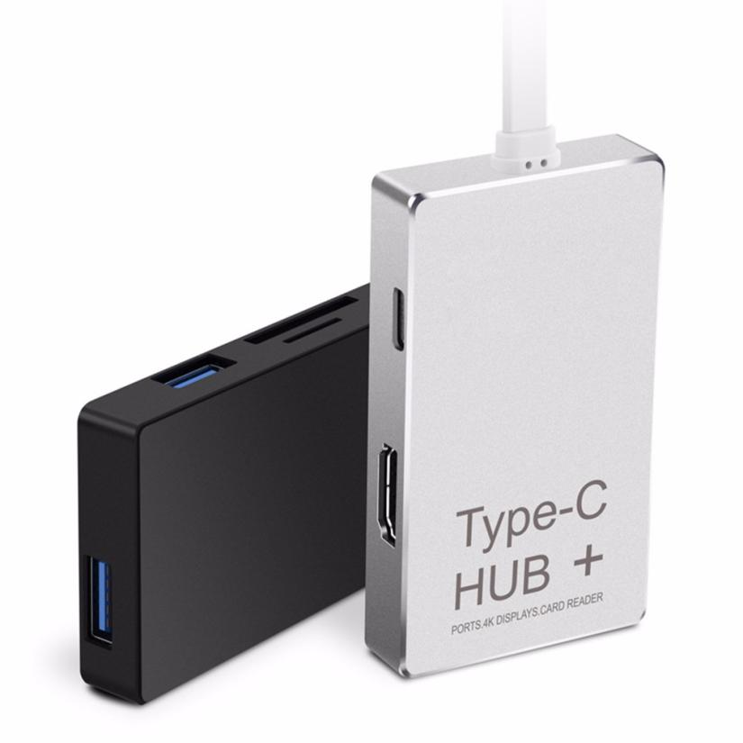 Adroit 6-in-1 USB-C Hub Type-C Charging Power Delivery HDMI 4K SD/TF Card Reader 25S7531 drop shipping eaget ch36 dual usb 3 0 type c hdmi hub data phone charging multifunctional hub sd tf card reader 4 in 1for macbook os pc laptop