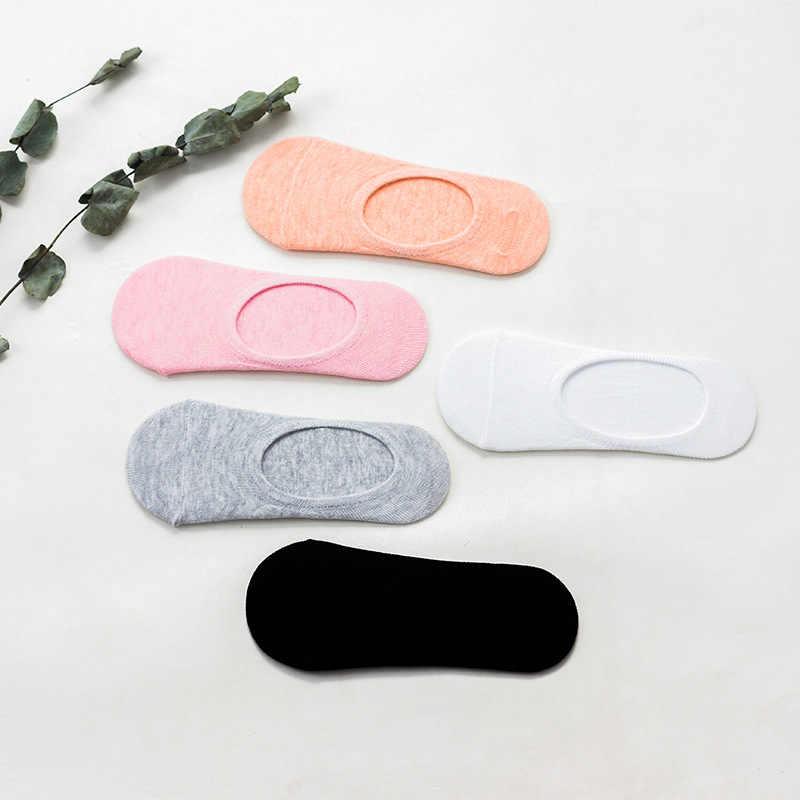 Классические однотонные Женские Дышащие низкие носки, бесшовные Невидимые носки, Слиперы, женские хлопковые цветные дешевые короткие носки