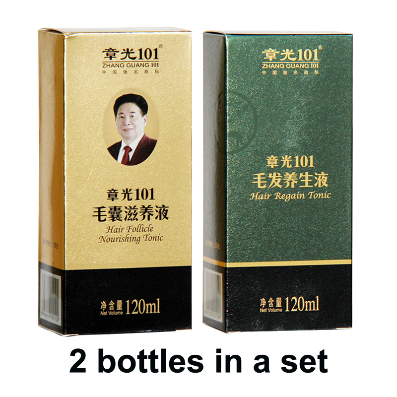 цена на Zhangguang 101 Hair Follicle Nourishing Tonic + Hair Regain Tonic, 2 pieces in a lot Anti hair loss Hair Regrowth sets
