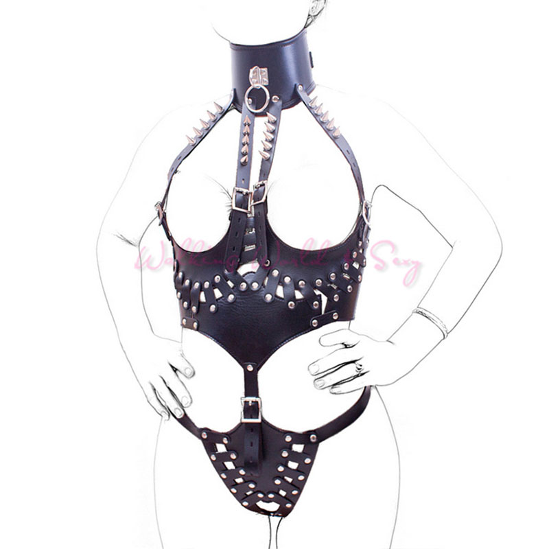 Queen Leather Sex Body Bondage Cosplay Open Breast Open Crotch Outfit Fetish Body Harness Bondage Adult Game Sex Toy For Women сетчатый open crotch кэтсьюит с розовым бантом
