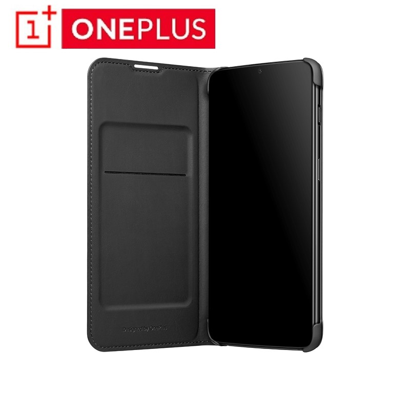 <font><b>Original</b></font> <font><b>OnePlus</b></font> 6T <font><b>Flip</b></font> <font><b>Cover</b></font> Black Case PU Leather Five <font><b>Flip</b></font> <font><b>Cover</b></font> Smart Sleep Wake <font><b>Cover</b></font> Protective Shield For Oneplus6T image