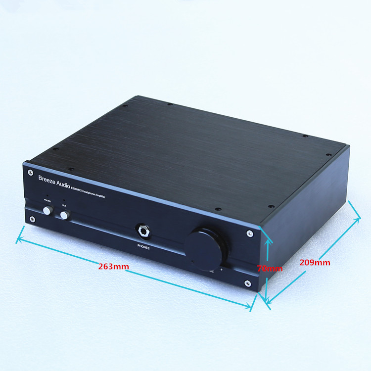 Breeze Audio E300 Class A Headphone Amplifier No Noise At HiFi Stereo earphone Amp With XLR/RCA Refer Electrocompaniet Circuit