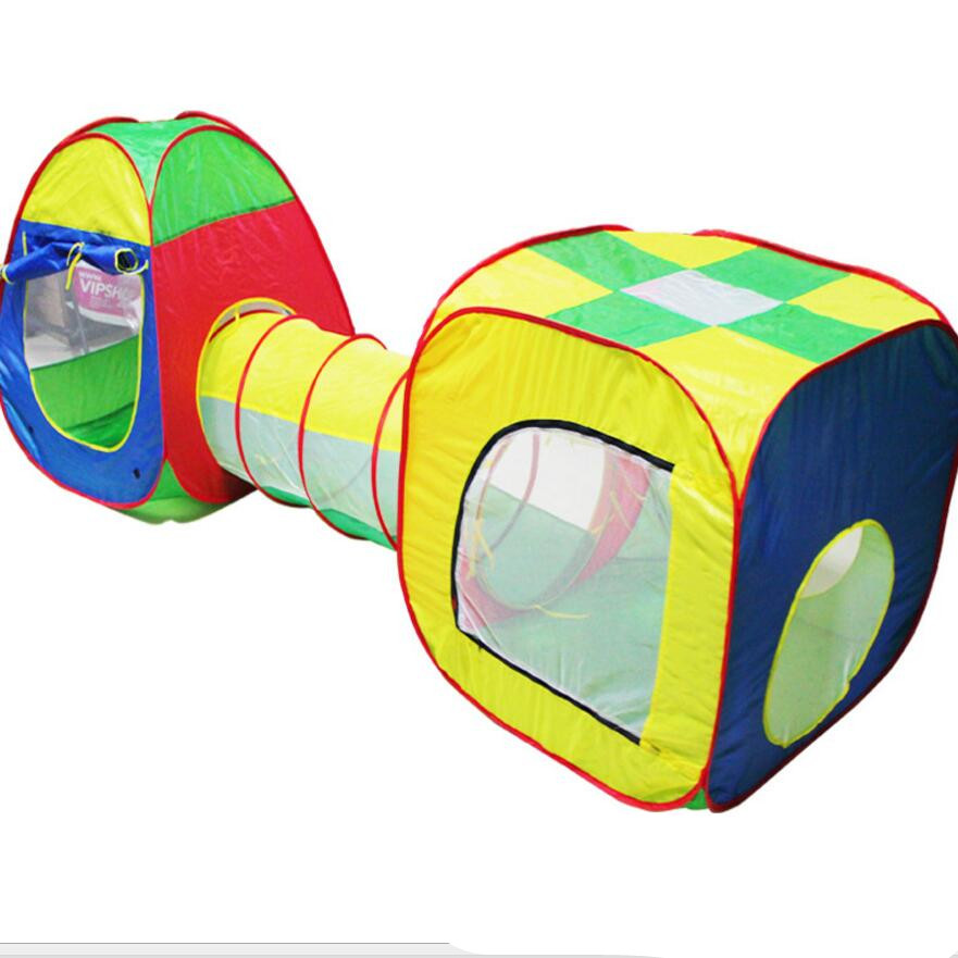 3pcs/set Children's play house tent large house crawl tube tunnel tent with tunnel Indoor Outdoor Game Room Tent new arrival indoor outdoor large children s house game room children s toys 3 in 1 square crawl tunnel folding kid play tent