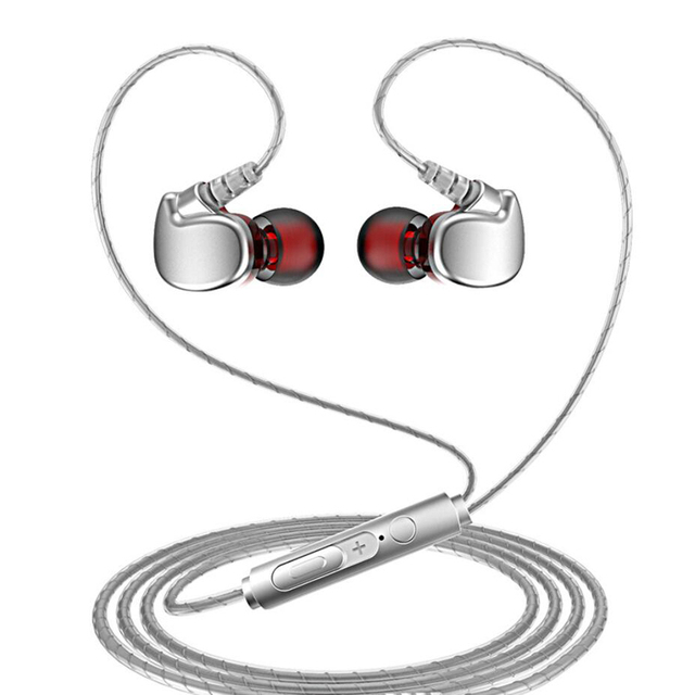 3.5mm audio Earphone Sport Headset with Mic Earbuds for Samsung Xiaomi huawei mobile Phone microphone call and music Headphone