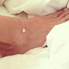2019 Fashion Love Peach Heart Anklets Foot Chain Summer Beach Adjustable Anklet Bracelets for Women Jewelry graceful rhinestoned heart anklet for women