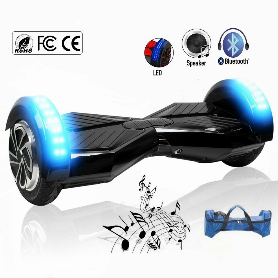 USA Canada France stock 8 inch Hoverboard Self Balancing Scooters Hover Boards Electric Skateboard with Bluetooth Speaker Bag france stock 6 5 inch hoverboard electric skateboard self balancing scooter smart balance wheel hover board remote controller