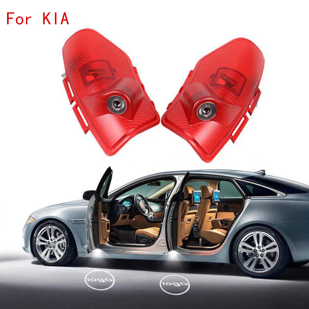 2pcs For KIA K5 CERATO Sorento Car LED Door Welcome Logo Light Laser Shadow Projector Lamp Car Accessories