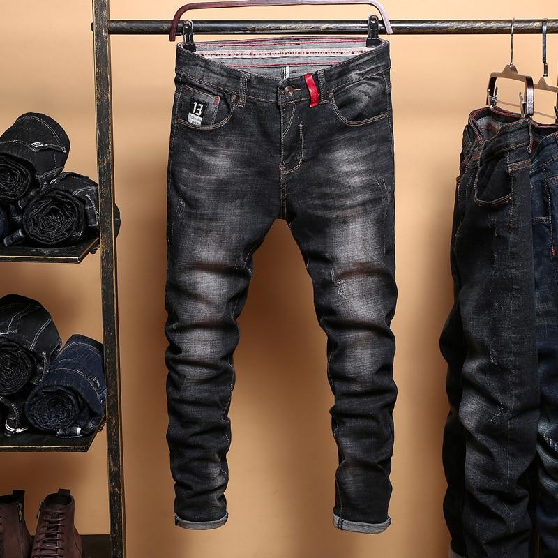 Men's Black Jeans Slim Denim Jeans Good Quality Men Skinny Solid Jeans Pencil Pants New Male Black Skinny Jeans