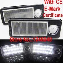 2 шт. Ксеноновые белые светодиодные с Canbus номерной знак светильник номерной знак лампа для Audi A6 C5 4B Avant/Wagon 1998-2005 RS6 Plus 2003-2005