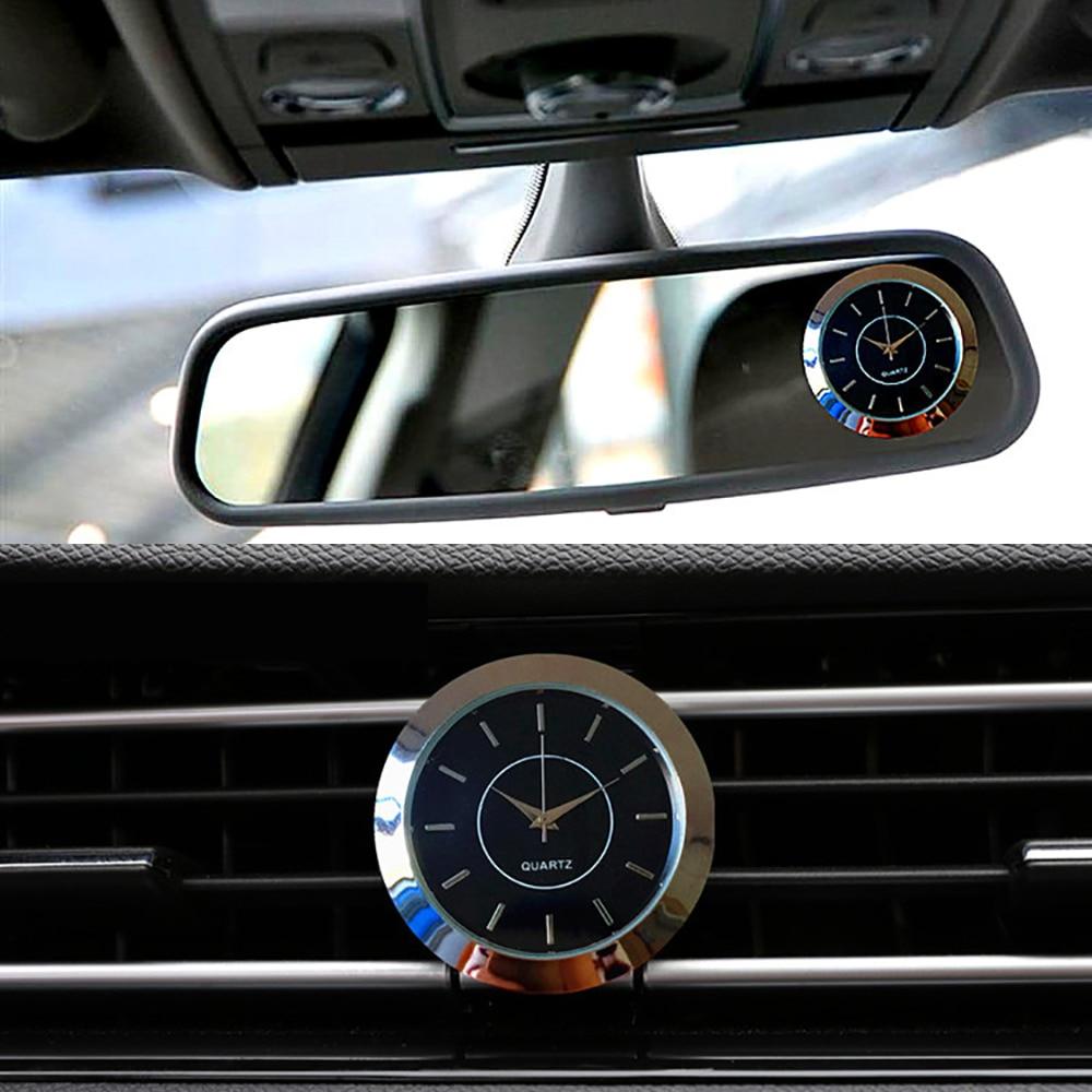 car air vents outlet quartz clock clip automotive watch auto interior dashboard stick on clock. Black Bedroom Furniture Sets. Home Design Ideas