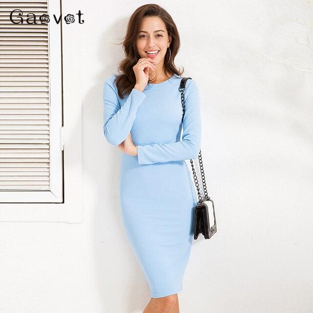 Gaovot 2018 Printemps Automne Femmes Robe À Manches Longues O-cou Texture  Impression De Base