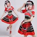 Женщина Китайский народный танец костюмы хмонг одежда этнические меньшинства Мяо одежда сценическое одежда