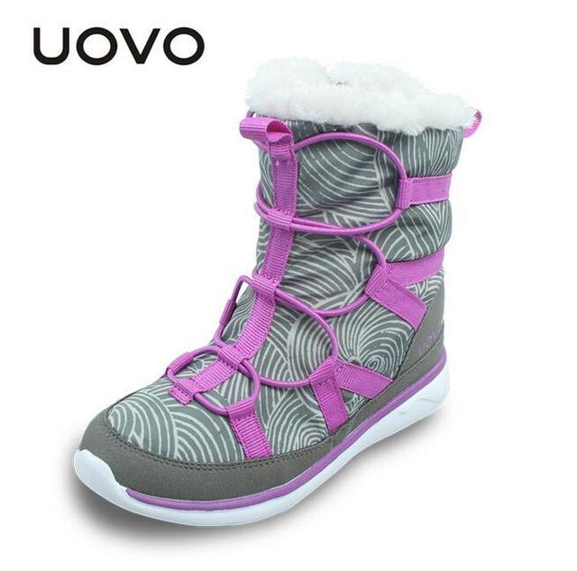 2e0bf07451fb UOVO Mädchen Winter Stiefel Circinated Tarja Kinder Stiefel Faux Pelz  Stiefel für Mädchen und Bungee Kinder