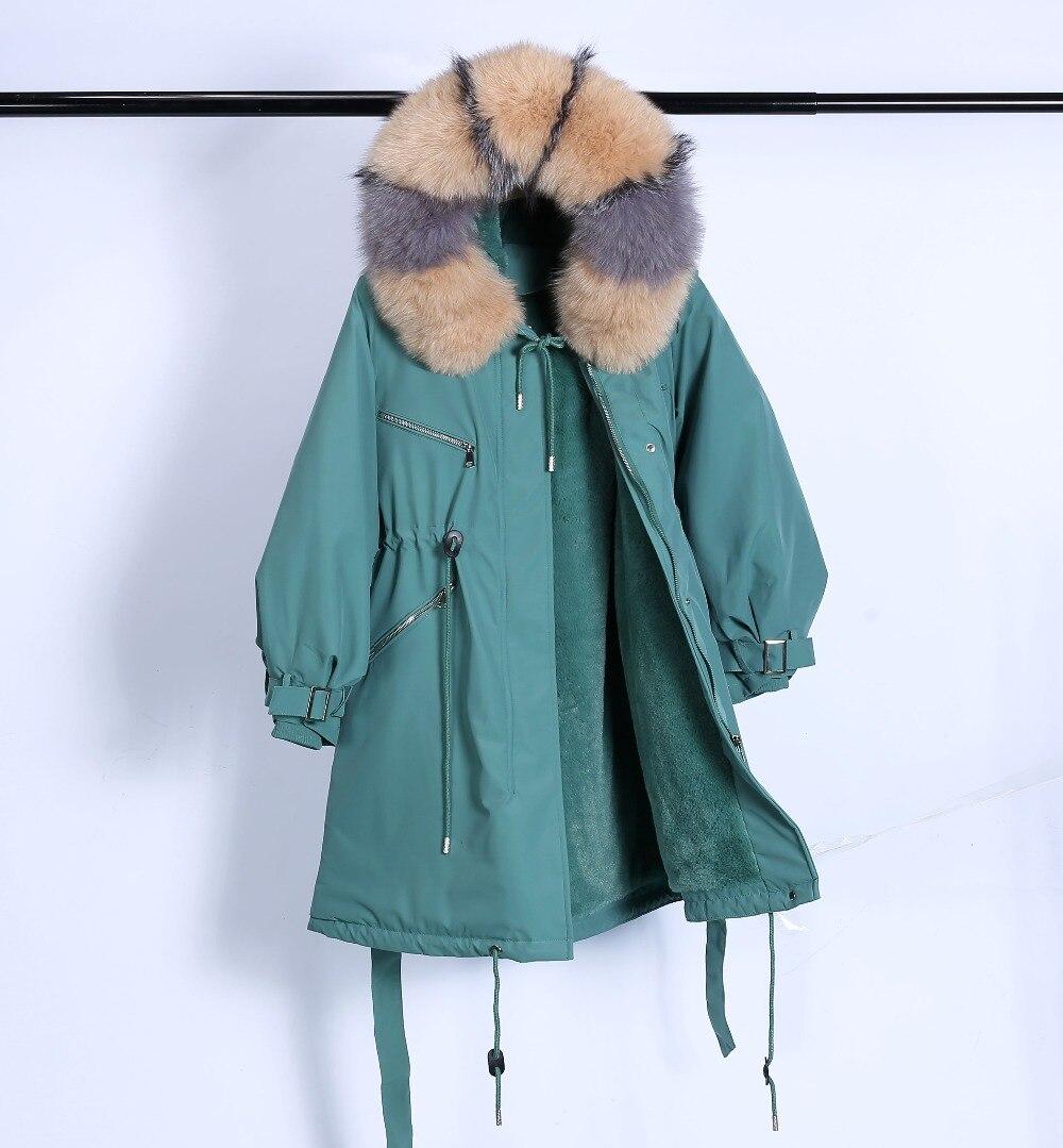 Large Natural Raccoon Fur Winter Jacket Women Hooded 19 Long Parkas For Female Thick Slim Down Winter Coat Women Waterproof 26