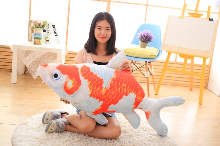 big lovely plush fish toy creative red&white fish pillow doll gift about 120cm big plush whale toy big head white foam dolphin doll pillow gift about 70cm