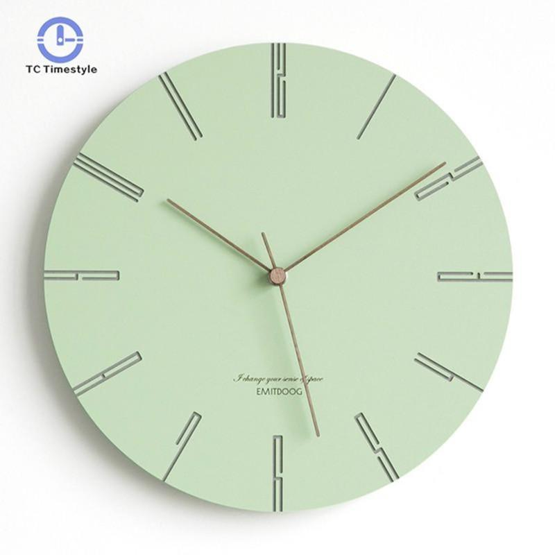 שעון קיר בצבעי פסטל 1