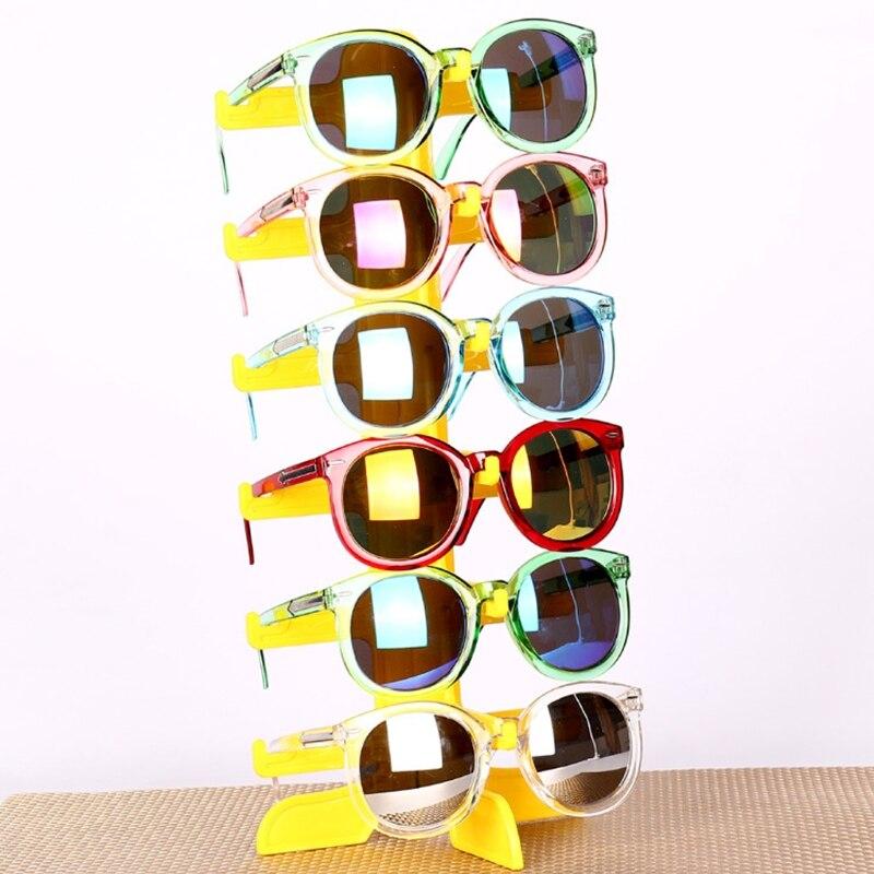 Jewelry Organizer Stand 6Pair Plastic Sunglasses Eyeglass Glasses Frame Rack Display