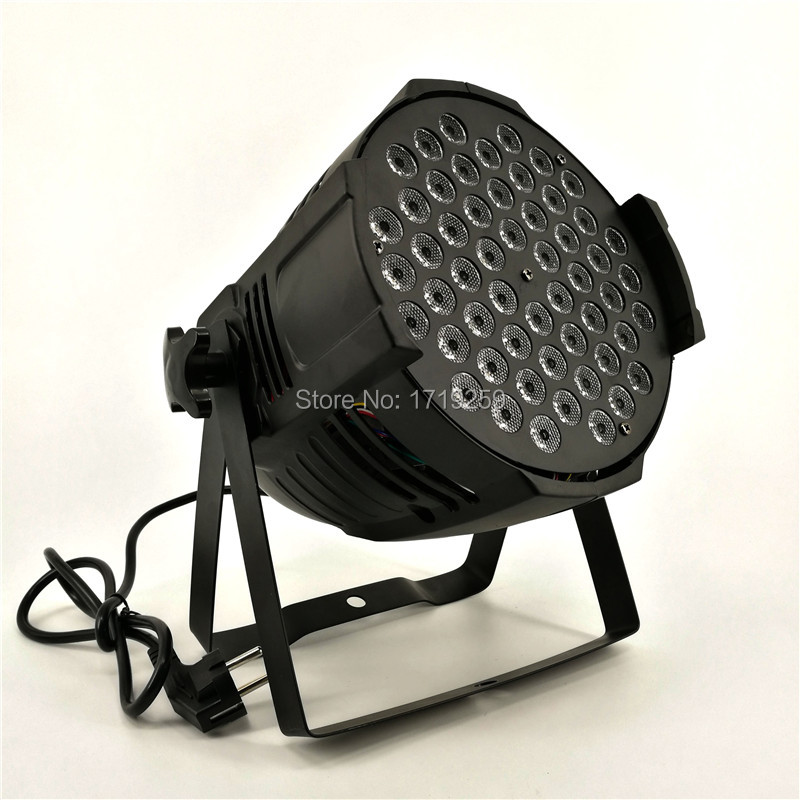 Fast Shipping 6pcs/lot New LED Par Can 54x3W RGBW 120W Color With 4/8 Channels DJ Wash Light Stage Uplighting No Noise