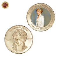 WR UK Princess of People 24k Gold Coin Collectible Challenge Metal Coins Art Ornament Creative Commemorative Coin