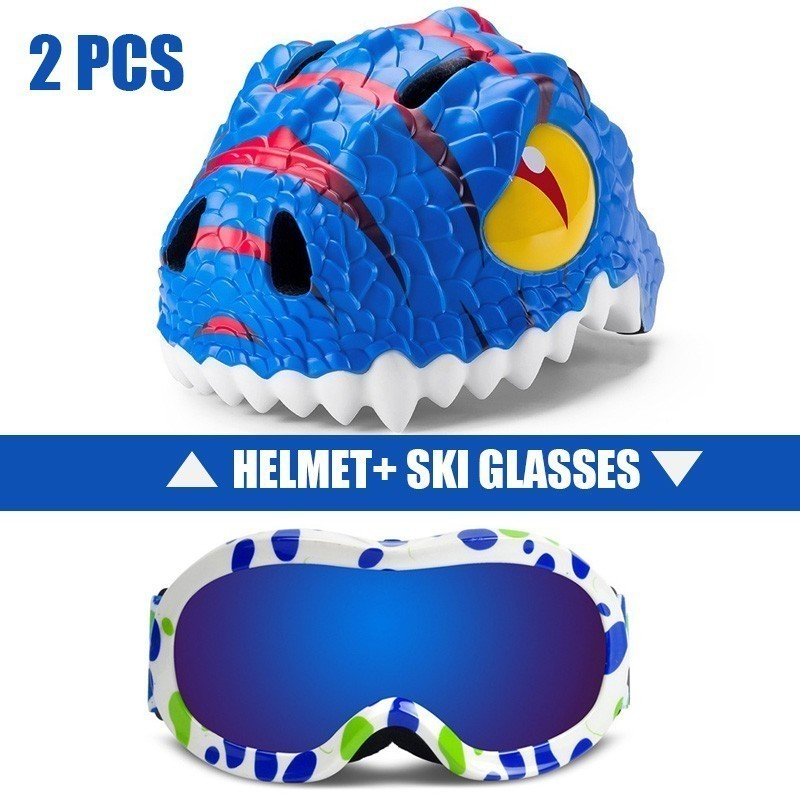Lunettes de Ski + casque 2 pièces UV400 Protection Anti-buée Snowboard Ski lunettes pour hommes femmes Snowboard Ski lunettes neige casque