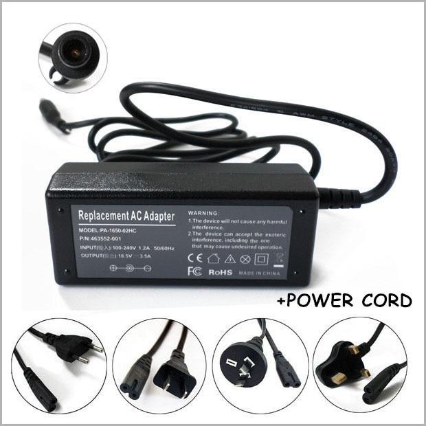 18.5 V 3.5A Adaptateur secteur 65 W batterie dordinateur portable Chargeur Ordinateur Portable Cordon Dalimentation Pour HP Pavilion G30 G40 G50 G60 G70 G4 G6 G7
