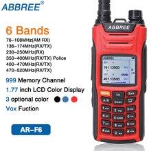 ABBREE AR F6 6 Bande Doppio Display Dual Standby 999CH Multi funzionale VOX DTMF SOS LCD A Colori Display Walkie Talkie ham Radio