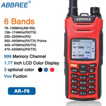 ABBREE AR F6 6 Bands Dual Display Dual Standby 999CH Multi funktionale VOX DTMF SOS LCD Farbe Display Walkie Talkie ham Radio