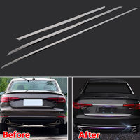 3pcs/set Stainless Steel Car Chromium Styling Rear Trunk Bumper Cover Trim Moulding For Audi A4 Sedan 2016 2017 B9 Car Styling