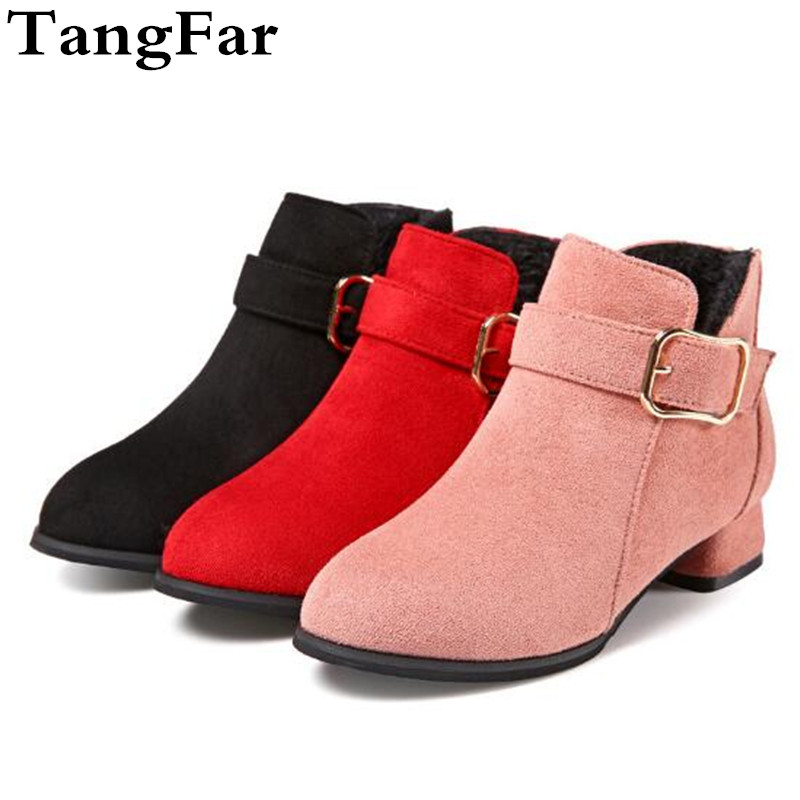 Girl High Heeled Short Boots Nubuck Leather Plush Fashion Martin Boot For Baby  Toddler Non slip Metal Children Botas Sneakers-in Boots from Mother   Kids  on ... 114dcdf7712c