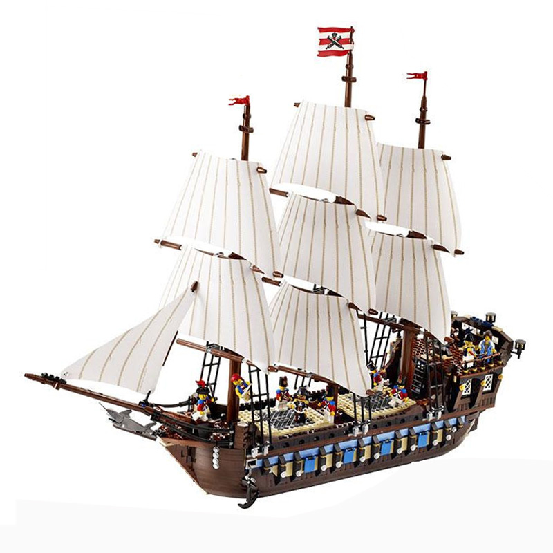 1717pcs Model Compatle with playmobil ninjagoes figure Pirate Ship Imperial warships Kit Building Blocks Briks Toys for children