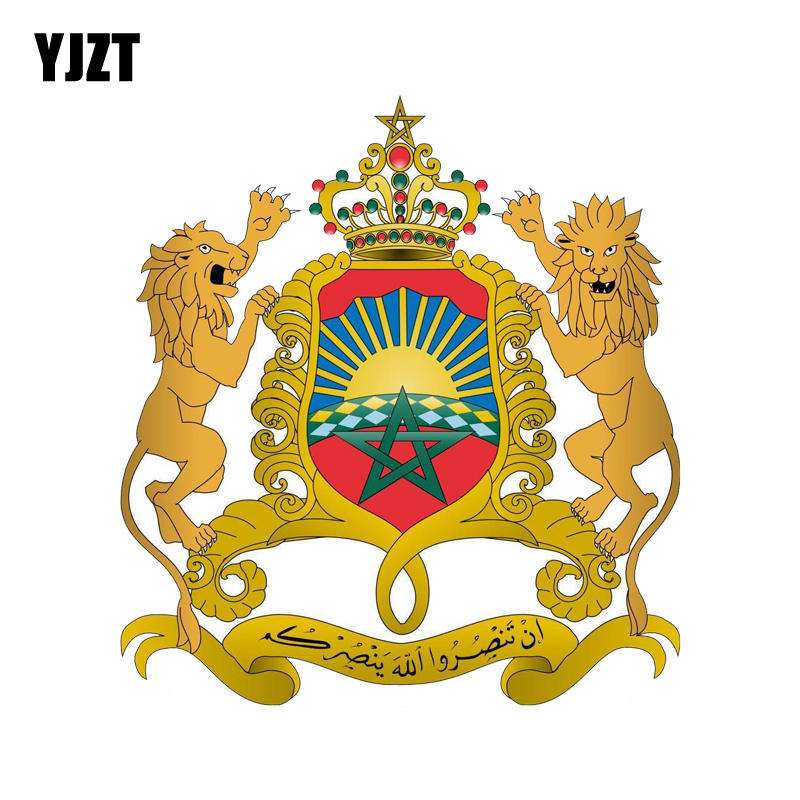 YJZT 11.6CM*12.5CM Car Styling Morocco Coat Of Arms Decal Shield Body Car Sticker 6-2131