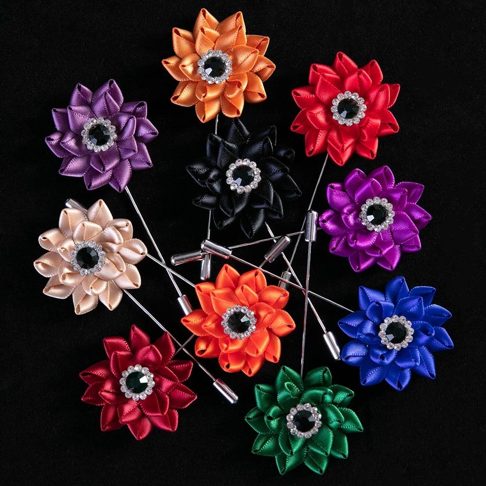 Handmade lotus flower leather brooch