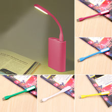 1PCS Flexible USB LED Book Light Desk Reading Lamp Camping Flashlight Night Lights for PC Mobile Power Charge Notebook Computer(China)