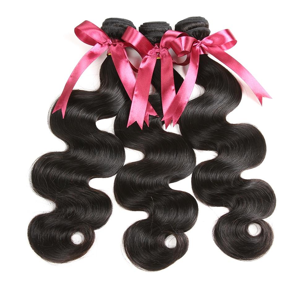 Karizma brasilianska kroppsvåg med stängning 4 st 100% mänskliga - Mänskligt hår (svart) - Foto 5