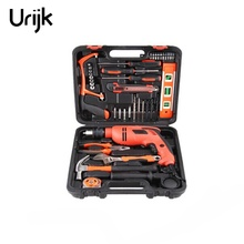 Urijk 40Pcs Hardware Repair Tools Set Faucet Slide Door Lock Handle Multi-Function Impact Drill Toolbox Household Hand Tools
