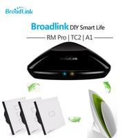 Broadlink TC2 Smart Switch Piastra di Copertura + RM3 Pro RM Mini 3 Fagioli neri + A1 Sensore E-aria Qualità Dell'aria Rivelatore Casa Intelligente Automat