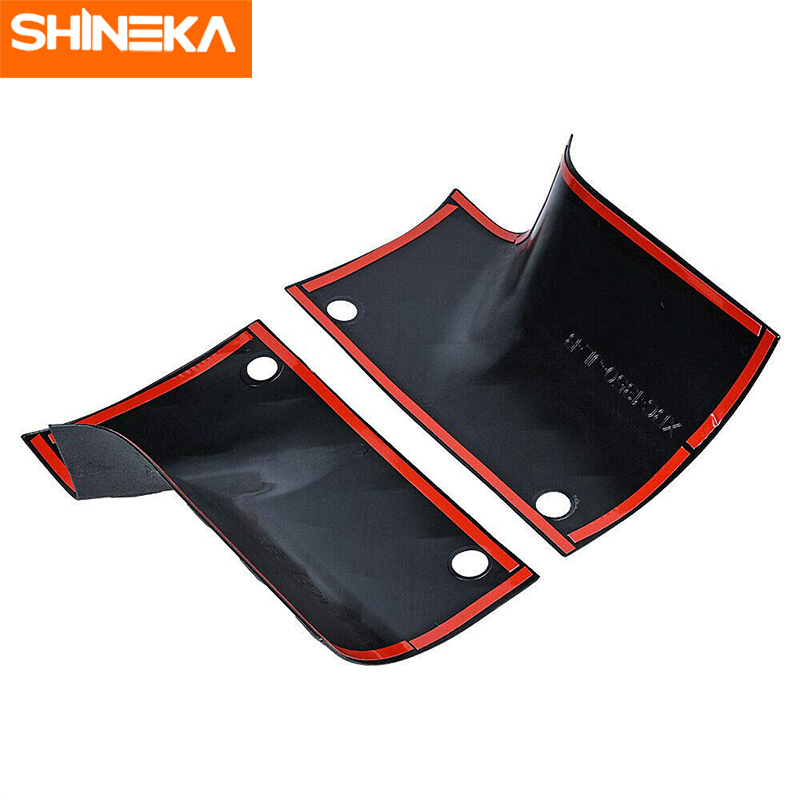 SHINEKA Styling Mouldings For Jeep Wrangler Sahara JL 2018 2019 ABS Car Hoods Corner Guards For Jeep Wrangler Sports Rubicon JL in Styling Mouldings from Automobiles Motorcycles